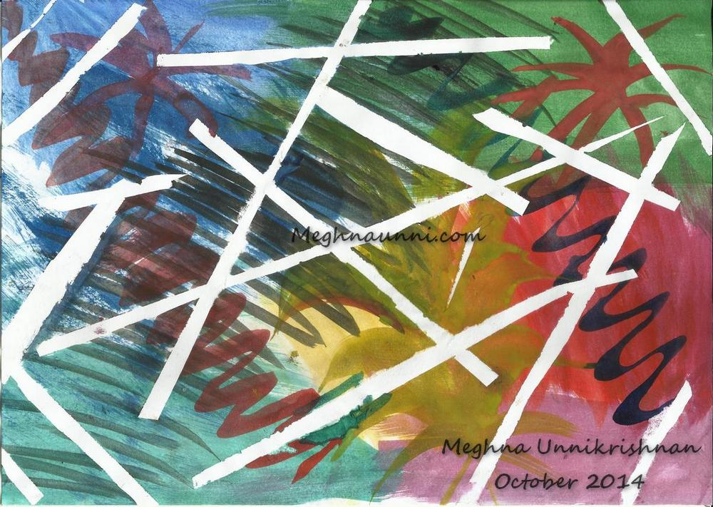 My New Abstract Fireworks – Using Cello Tapes