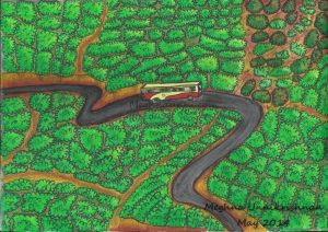 Kerala Tea Gardens Painting