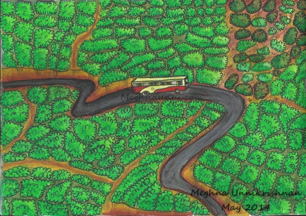 Kerala Tea Gardens Painting