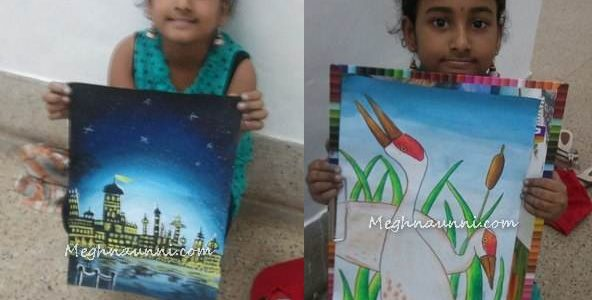Paintings done at a Contest in Lalit Kala Akademi, Chennai