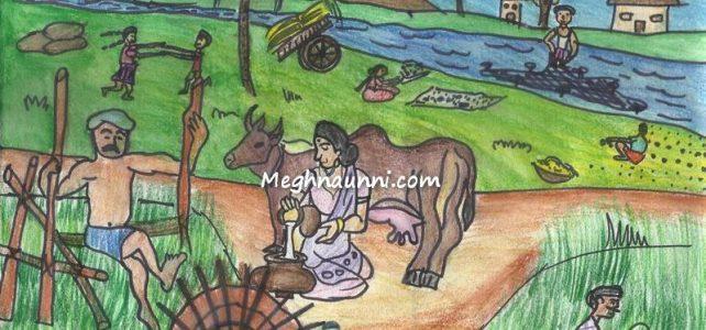 Family Farming Drawing