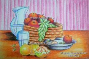 Fruit Basket Still Life Painting