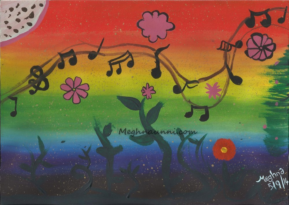 """Nature's Music"" Painting using Poster Colours"