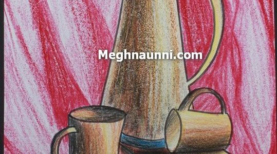 Still Life Painting using Plastic Crayons