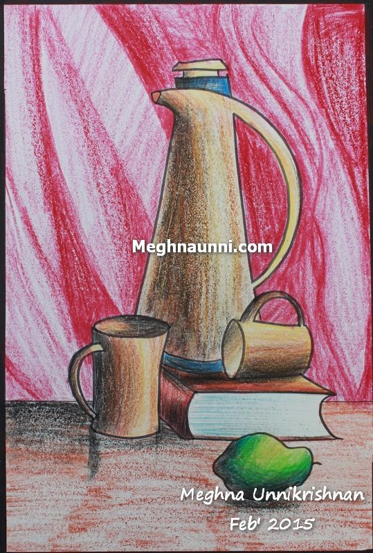 Still Life Painting using Plastic Crayons