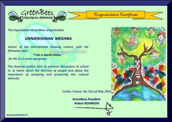 Won 8th GreenBees Drawing Contest 2015