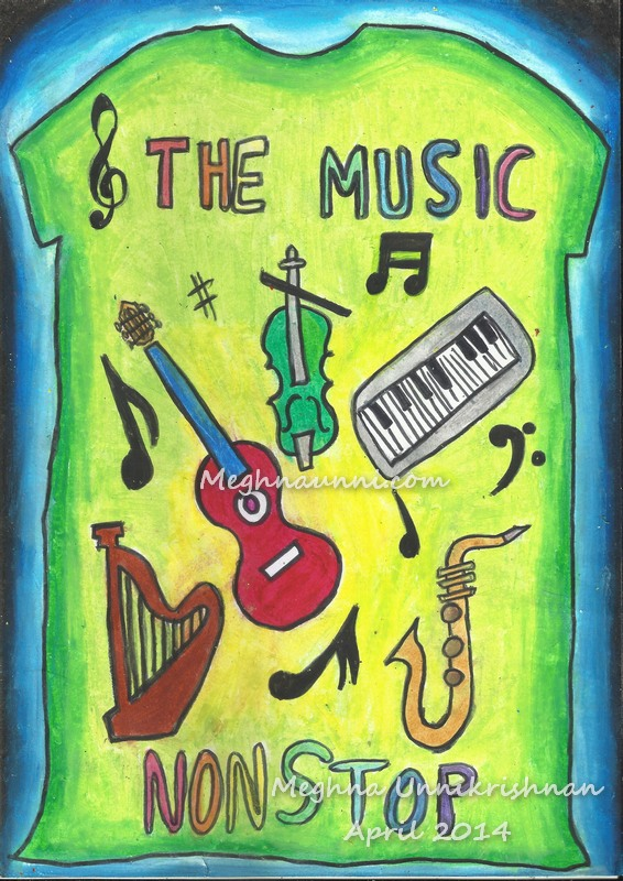 T-Shirt Design on Musical Instruments