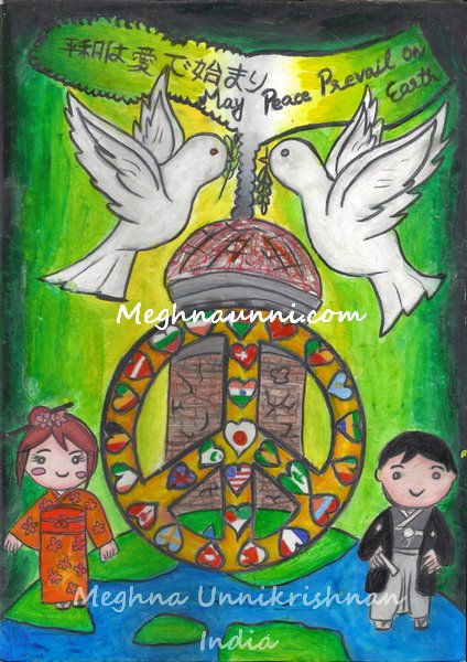 Love to Hiroshima, Love to Nagasaki Painting Done by me
