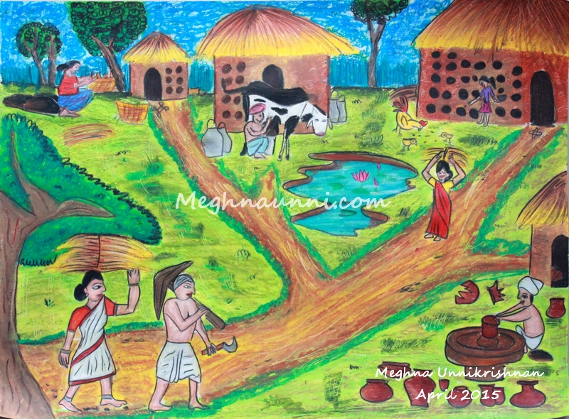 Traditional Occupations of My Country Drawing