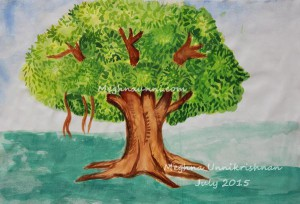 My First Water Colour Attempt : Tree