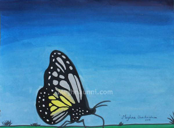 butterfly-poster-colour-meghna-unni