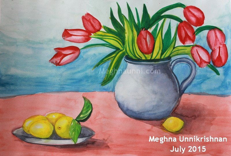 flowers-fruits-still-life-painting-water-colour-by-meghna