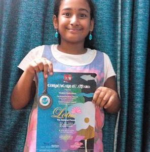 Lotus – The National Flower Art Contest 2015 Medal & Certificate