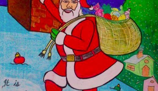 Merry X'Mas – Santa Claus Painting done by me