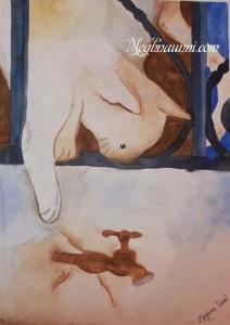 Cat Painting – Medium : Water Colour