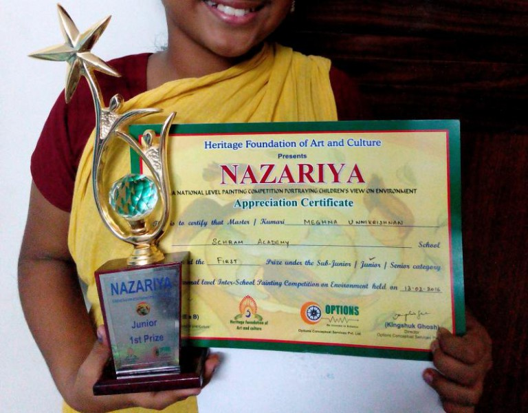 Won 1st Prize in the Nazariya National Painting Competition 2015