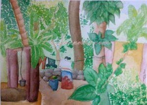 My Village Series WaterColour Painting 1 – Cheruthana