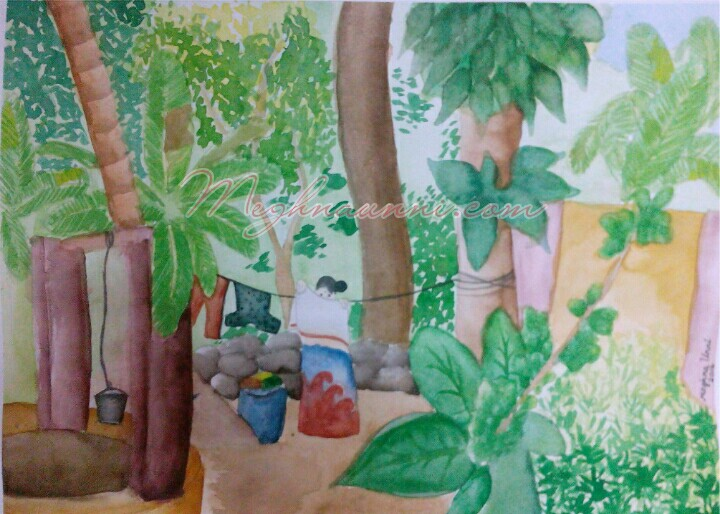 My Village Series WaterColour Painting 1 – Cheruthana