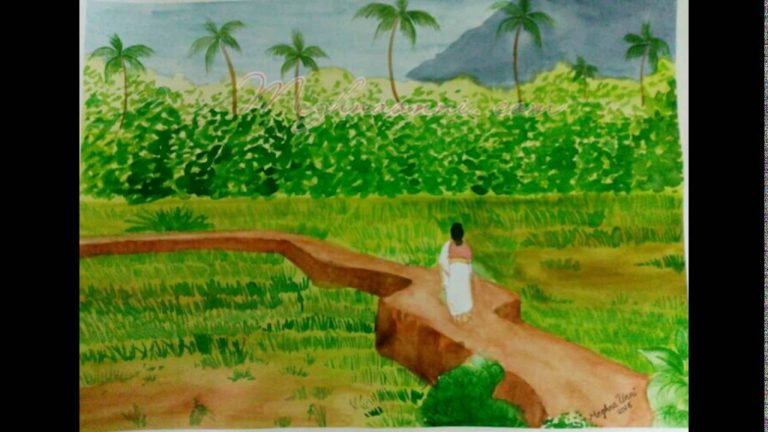 My Village Scene Paintings Video by Meghna Unni