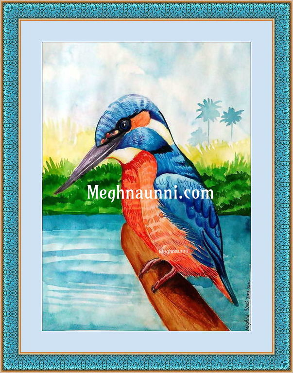 """My New Painting """"Kingfisher"""" Water Colour"""