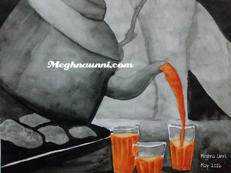 tea-jug-glasses-painting-meghna-unni