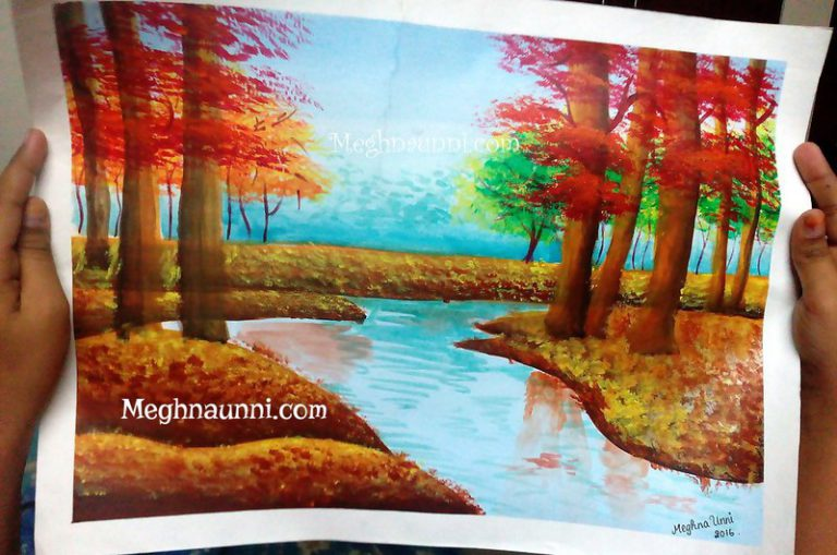 Nature Paintings : Acrylic on Canvas and Paper
