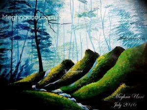 My New Landscape Painting : Medium Acrylic