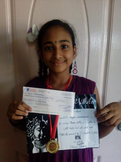 meghna-with-sanskriti-arts-black-and-white-contest-prizes