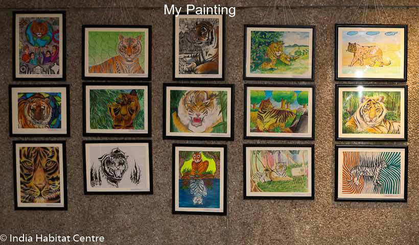 tiger-painting-exhibited-at-india-habitat-centre-new-delhi