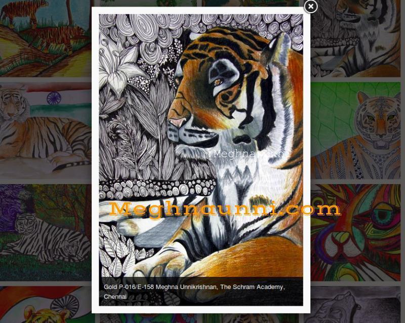 tiger-the-national-animal-artinfoindia-gold-award-meghna-unni
