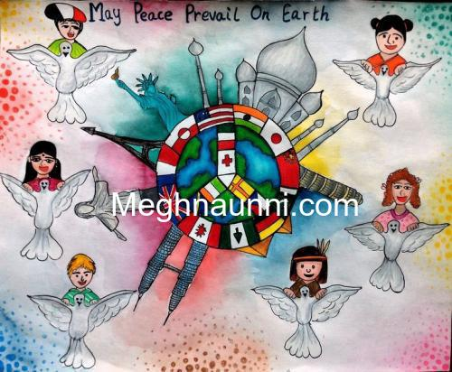 Peace Painting for 2016 Peace Pals International Art Contest