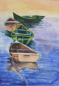 Boats Water Colour Painting