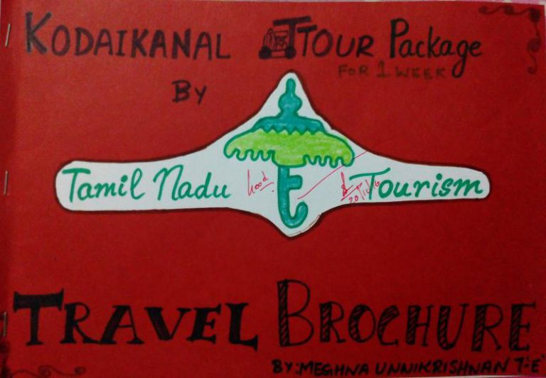 My English CCE Project : Travel Brochure for Kodaikanal Tour