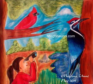 Bird Watching Painting