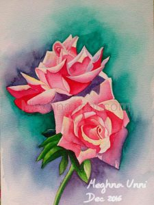 """Roses"" Painting ; Medium : Water Colour"
