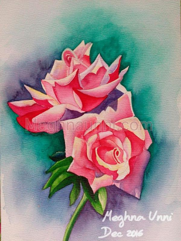 """Roses"" Painting ; Medium : Water Colour"