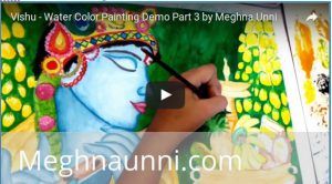 Vishu Watercolor Painting Demo Videos