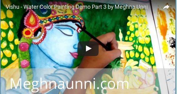 Vishu Watercolor Painting Demo Videos