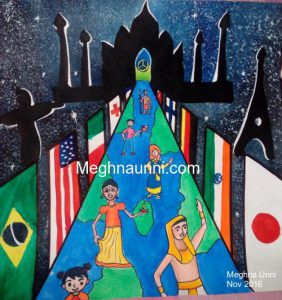 'A World Without Borders' – Acrylic Painting