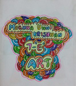 My 7th Std Art Book Drawings & Paintings