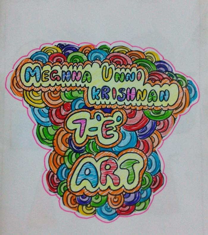 Art Book Front Cover : My th std art book drawings paintings