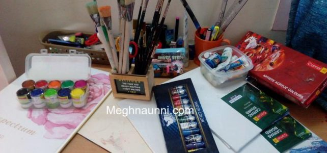 My Favorite Painting Set | Canvas, Acrylic, Water Colours, Brushes