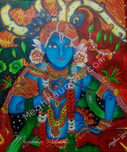 Sree Krishna Painting Acrylic on Canvas