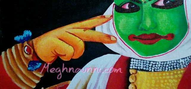 Kathakali Face Painting : My Gift to Latha Mam
