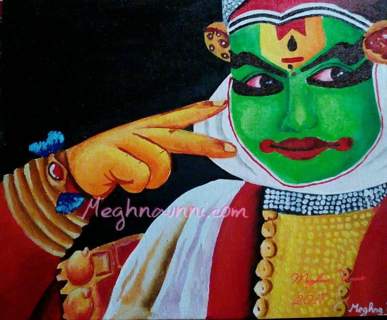 Kathakali Face Painting : My Gift to Latha Mam