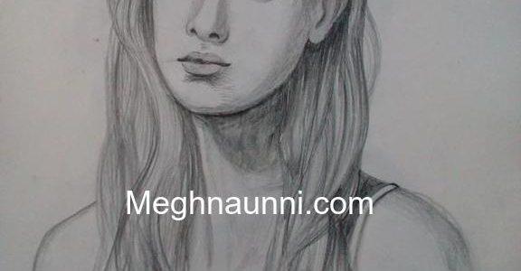 Lady Portrait : Pencil Sketch Drawing