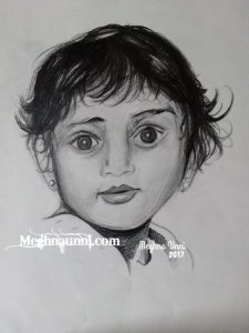 Baby Portrait Sketch Drawing