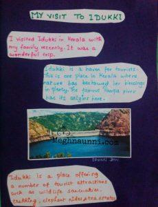 School Project | English : My Trip to Idukki