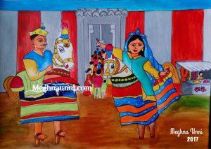 """""""Poikkaal Kuthirai Aattam"""" Acrylic Painting"""