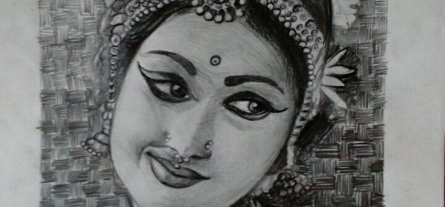 My Favourite Pencil Sketch | Bharathanatyam Dancer